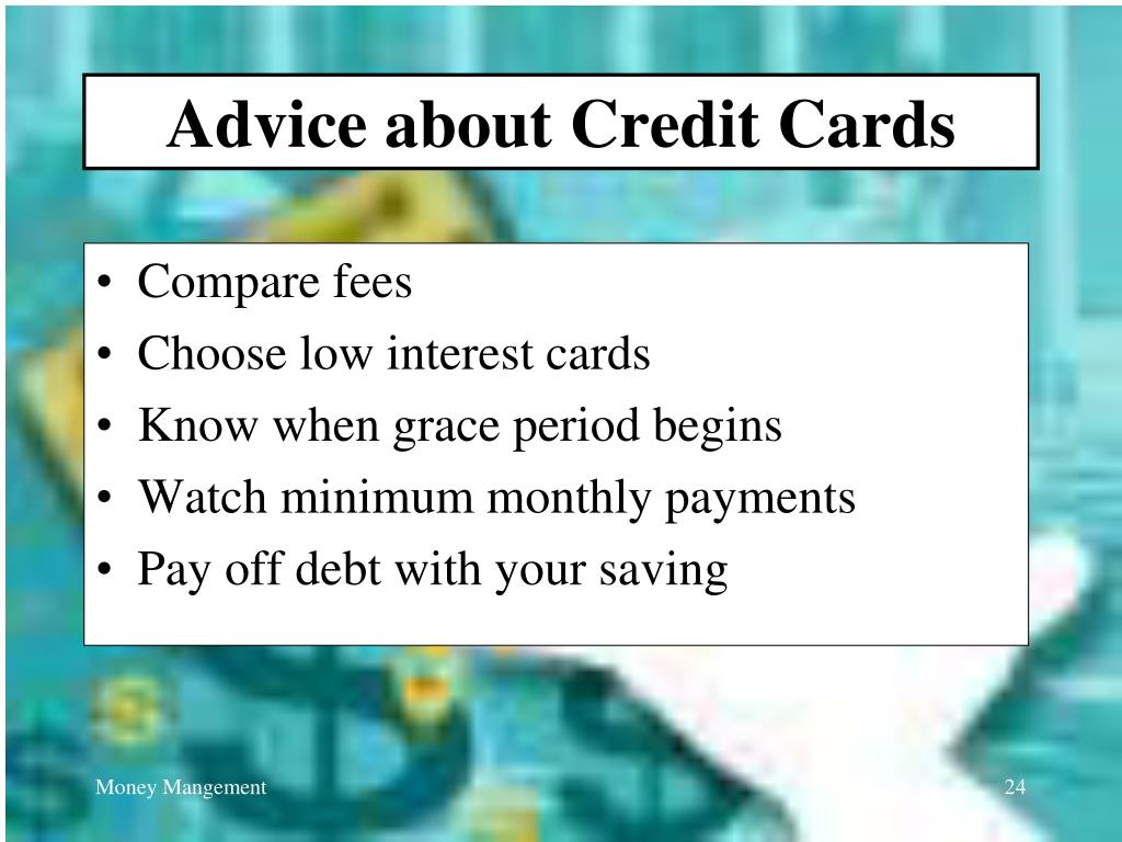 Advice about Credit Cards