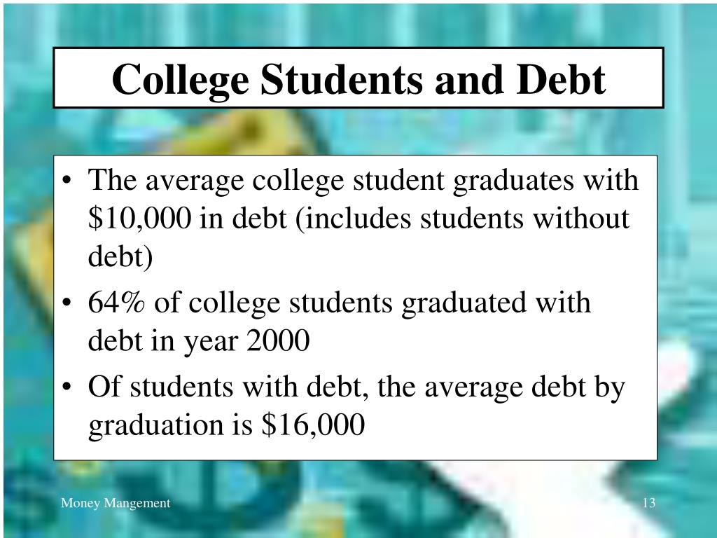 College Students and Debt