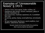 examples of unreasonable noises 143 5