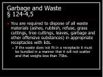 garbage and waste 124 4 5