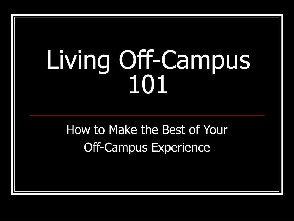 living off campus 101
