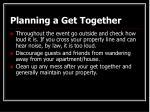 planning a get together24