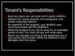 tenant s responsibilities