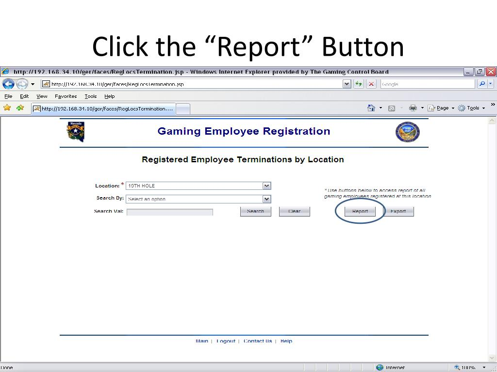 "Click the ""Report"" Button"