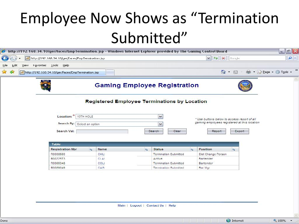 "Employee Now Shows as ""Termination Submitted"""