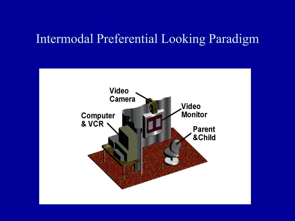 Intermodal Preferential Looking Paradigm