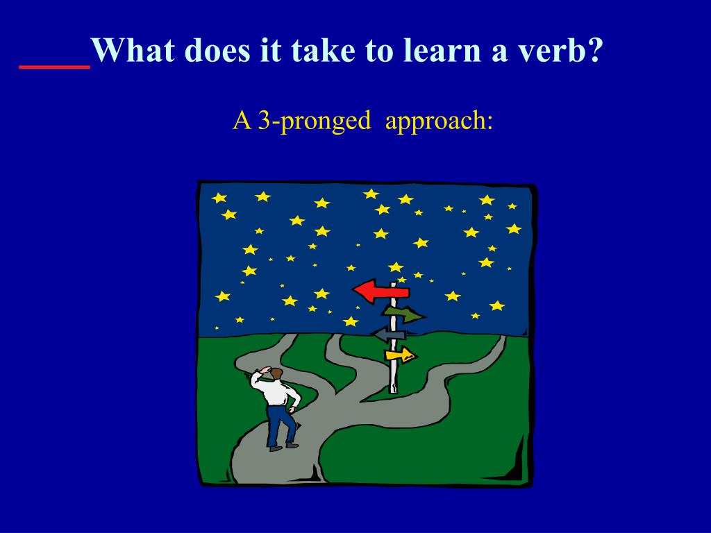 What does it take to learn a verb?