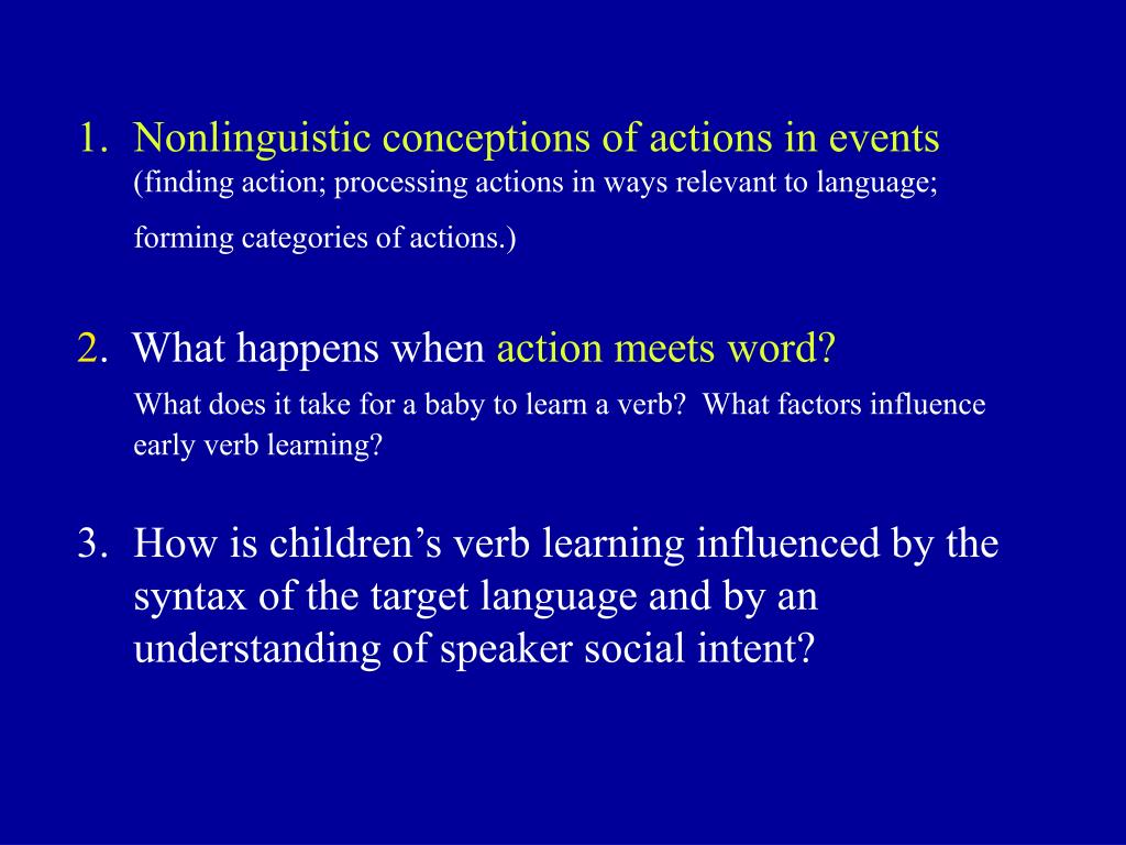 Nonlinguistic conceptions of actions in events