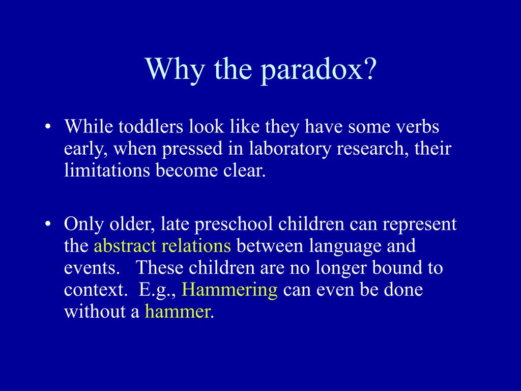 Why the paradox?
