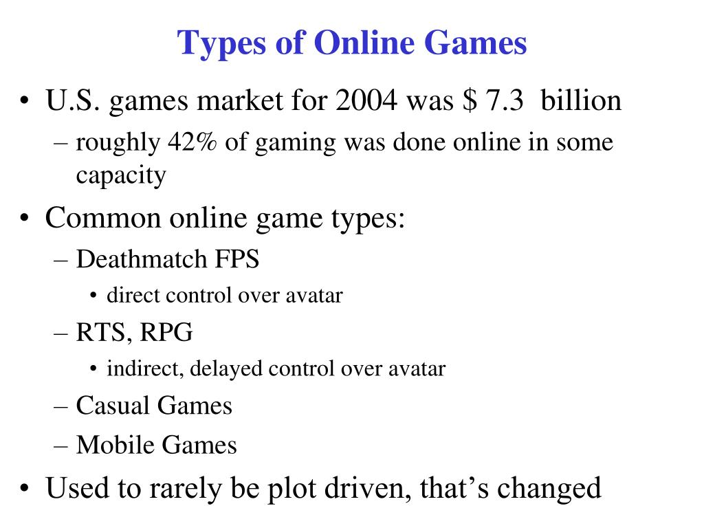 Types of Online Games