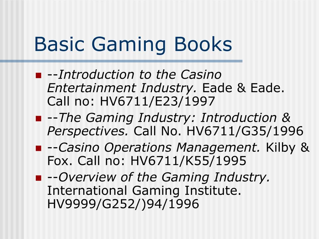 Basic Gaming Books