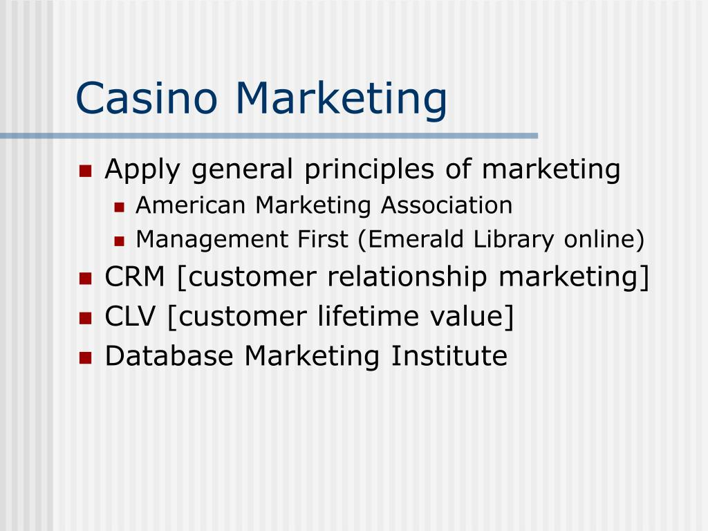 Casino Marketing