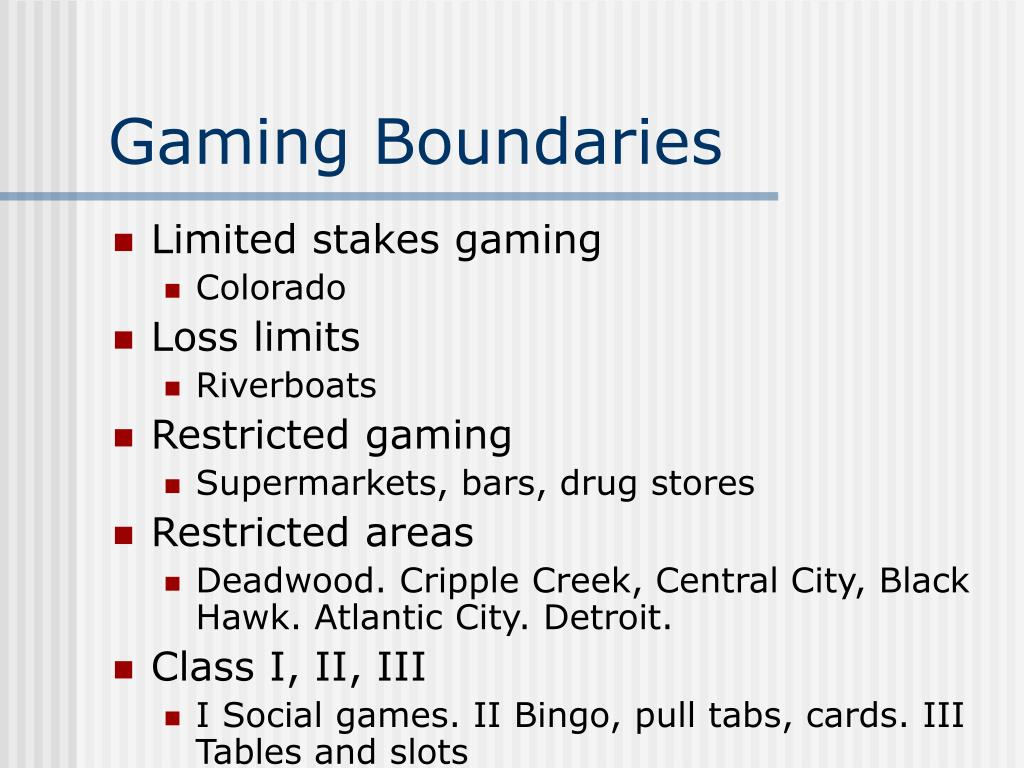 Gaming Boundaries