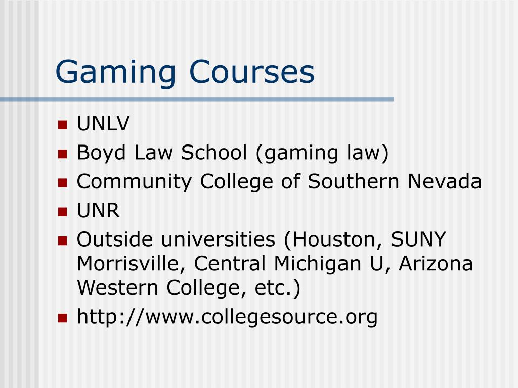 Gaming Courses