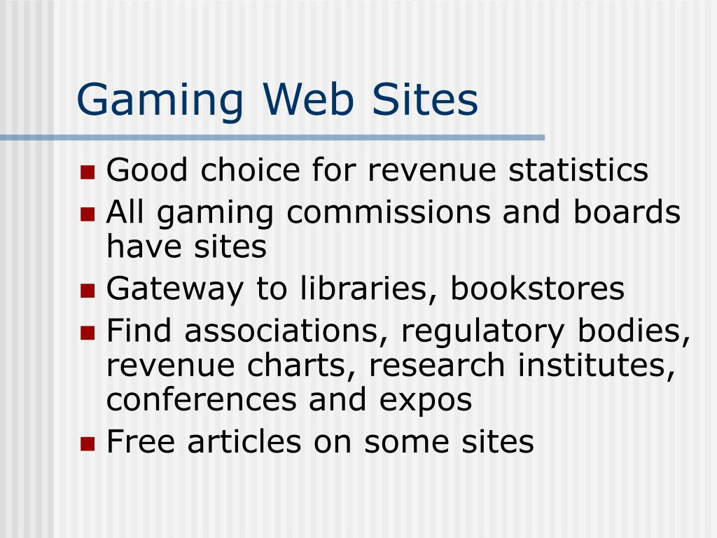 Gaming Web Sites