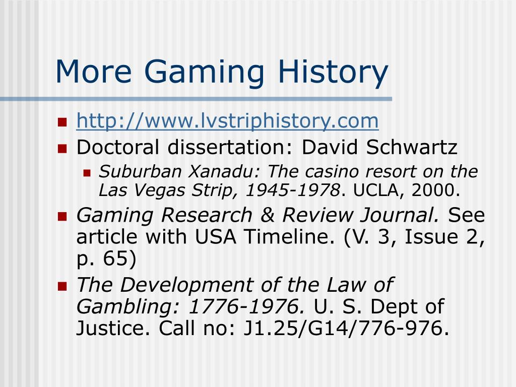 More Gaming History