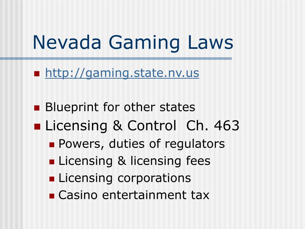 Nevada Gaming Laws