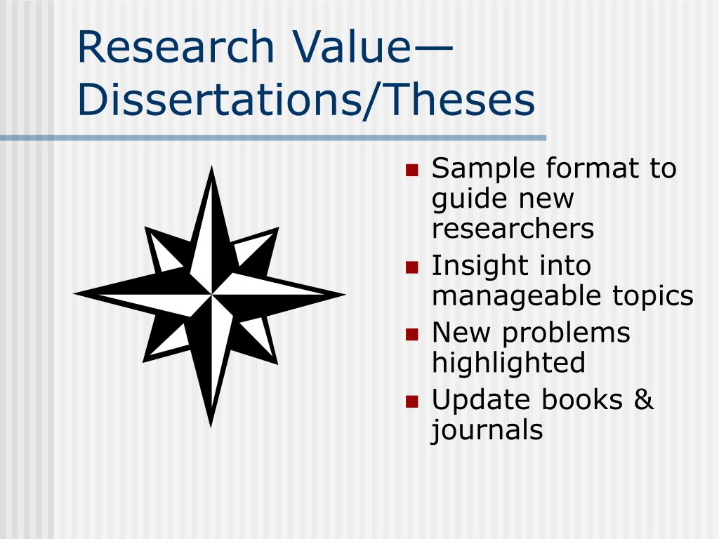 Research Value—Dissertations/Theses