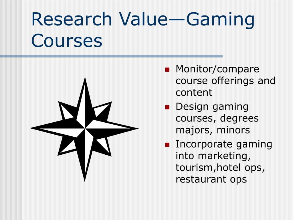 Research Value—Gaming Courses