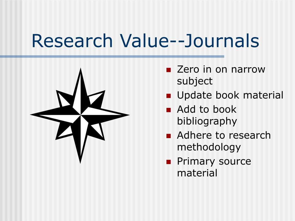 Research Value--Journals