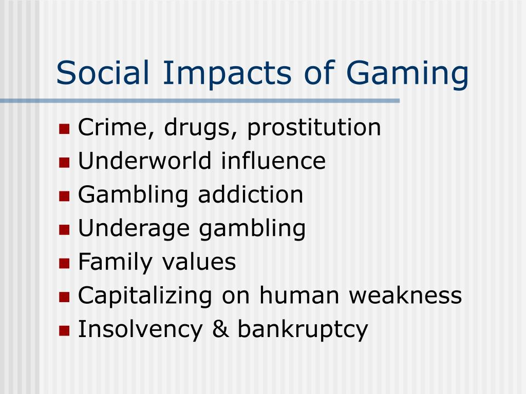 Social Impacts of Gaming