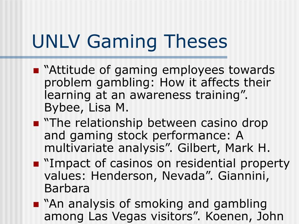 UNLV Gaming Theses