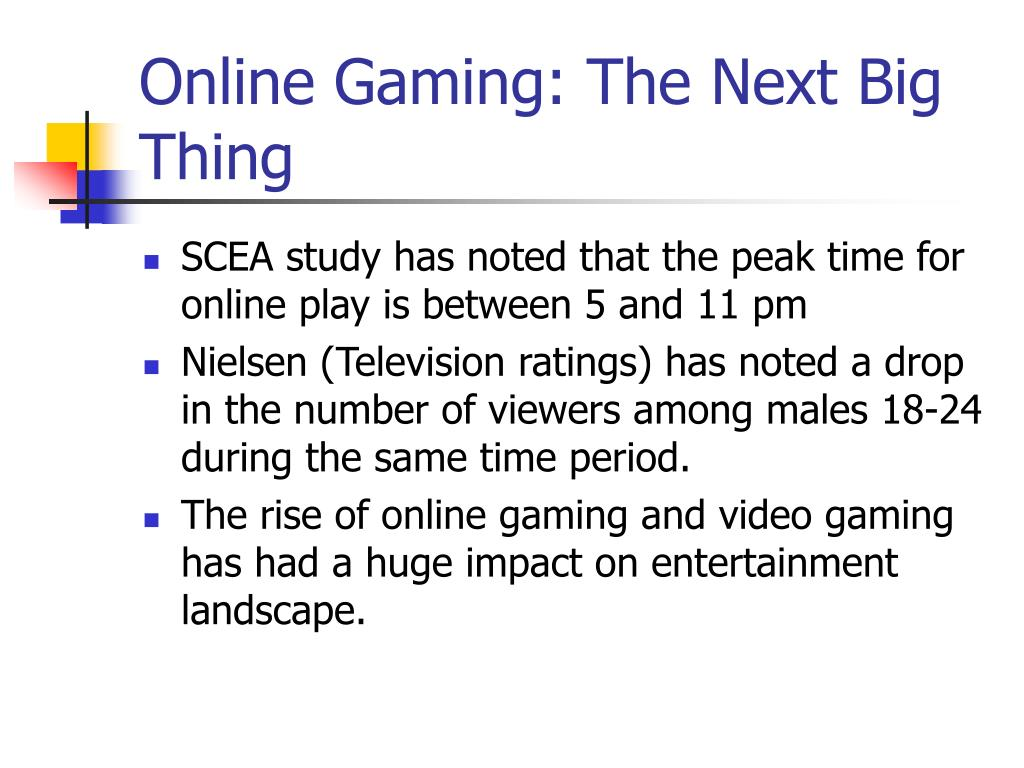 Online Gaming: The Next Big Thing
