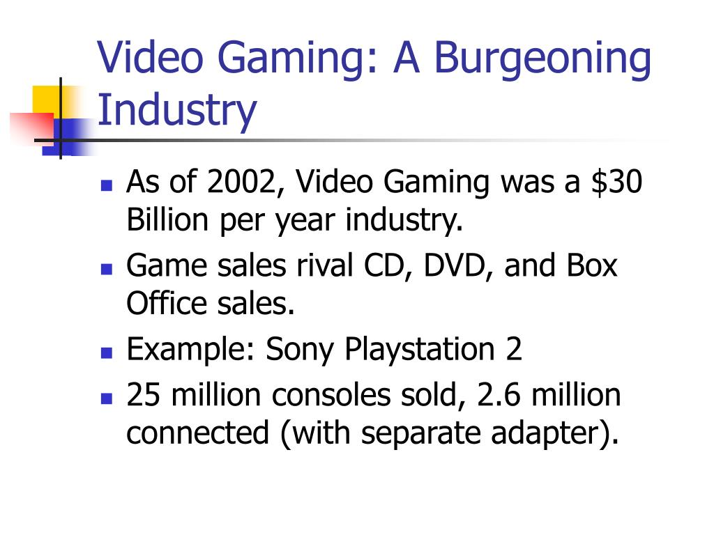 Video Gaming: A Burgeoning Industry