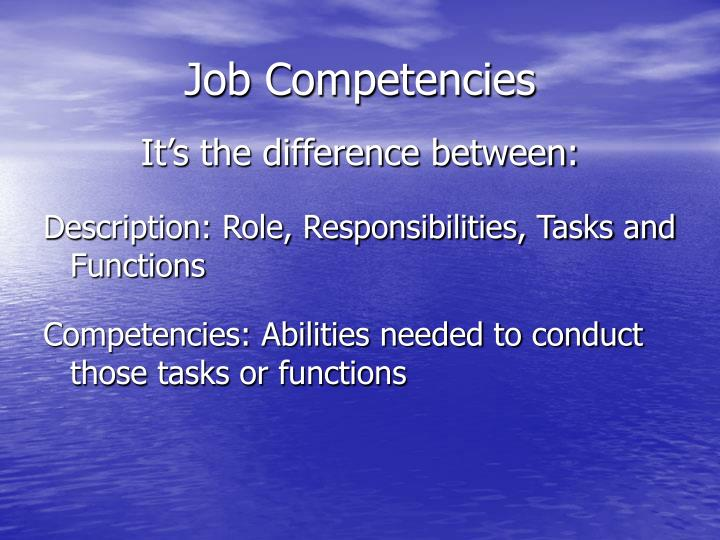 Job Competencies