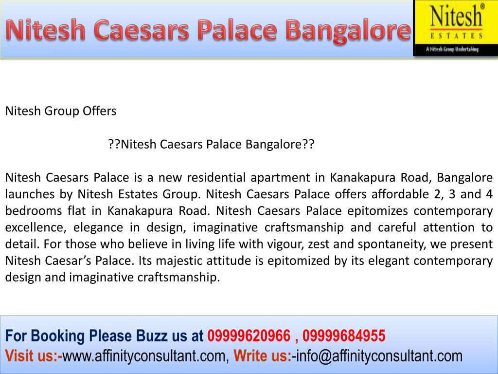 Nitesh Caesars Palace Bangalore
