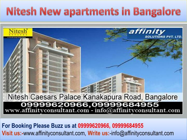Nitesh New apartments in Bangalore