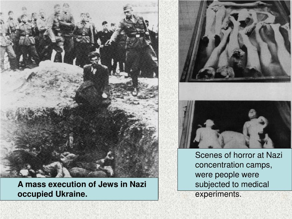 Scenes of horror at Nazi concentration camps, were people were subjected to medical experiments.