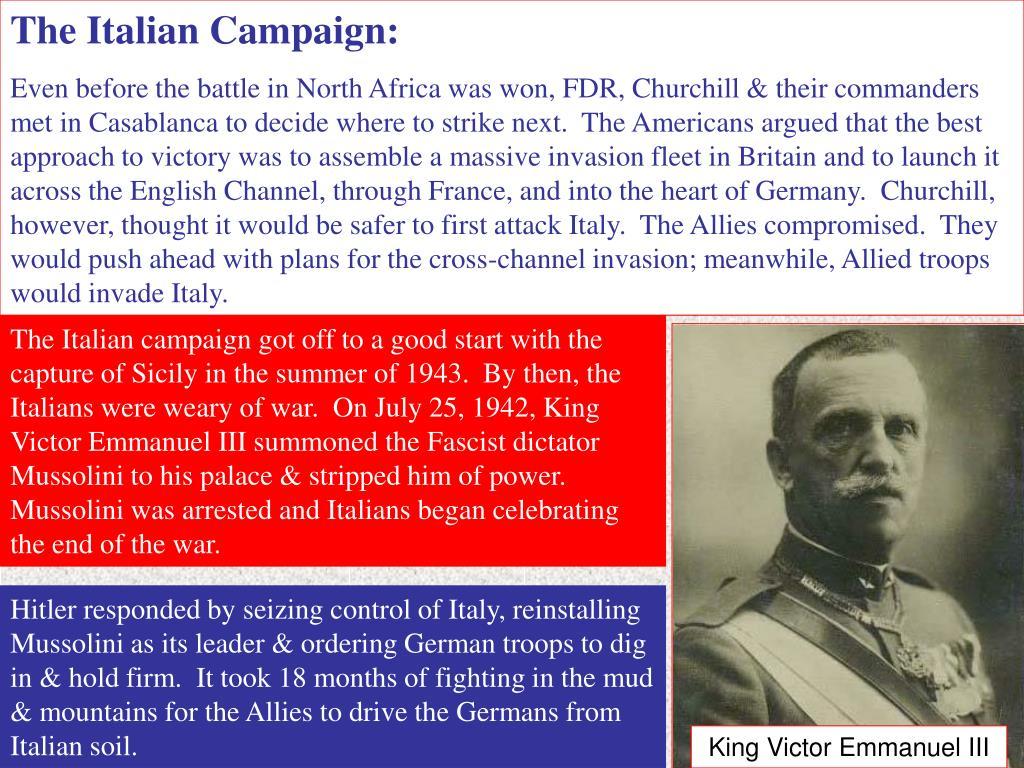 The Italian Campaign:
