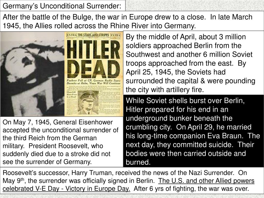 Germany's Unconditional Surrender: