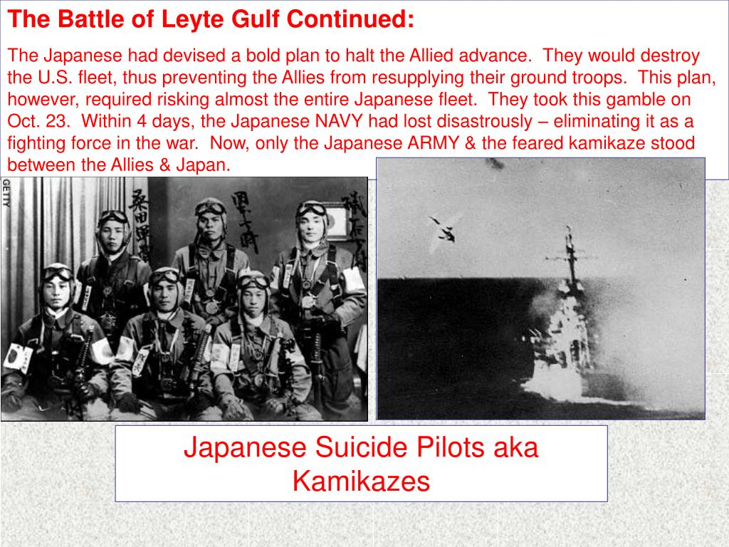 The Battle of Leyte Gulf Continued: