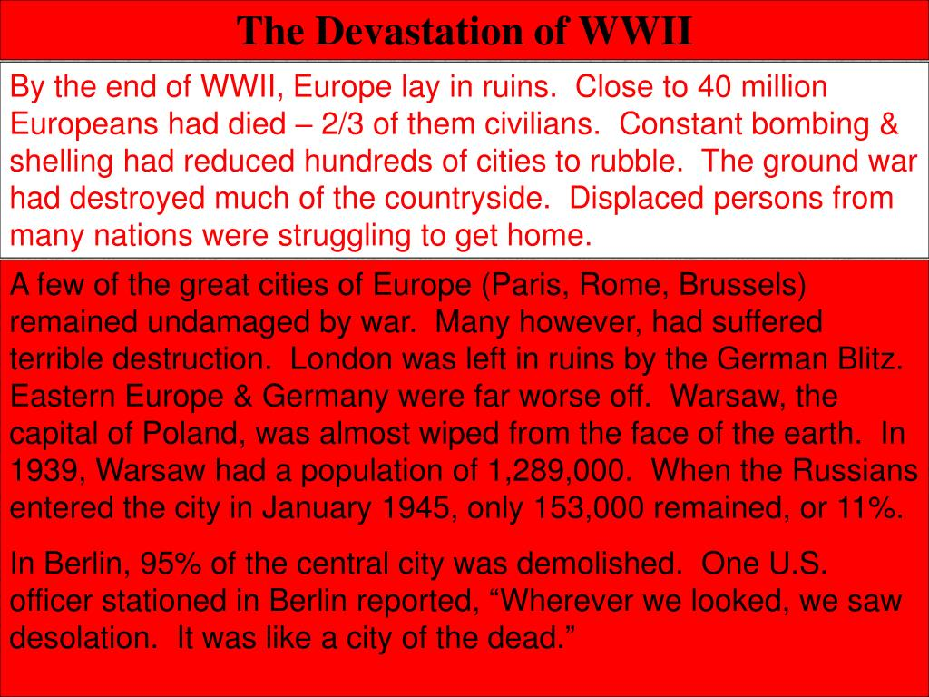 The Devastation of WWII
