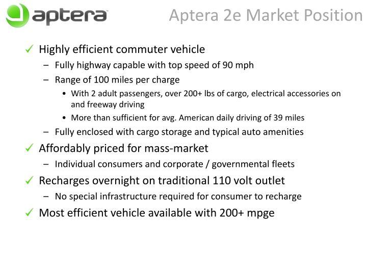 Aptera 2e Market Position