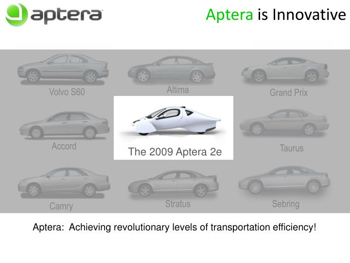 Aptera is innovative