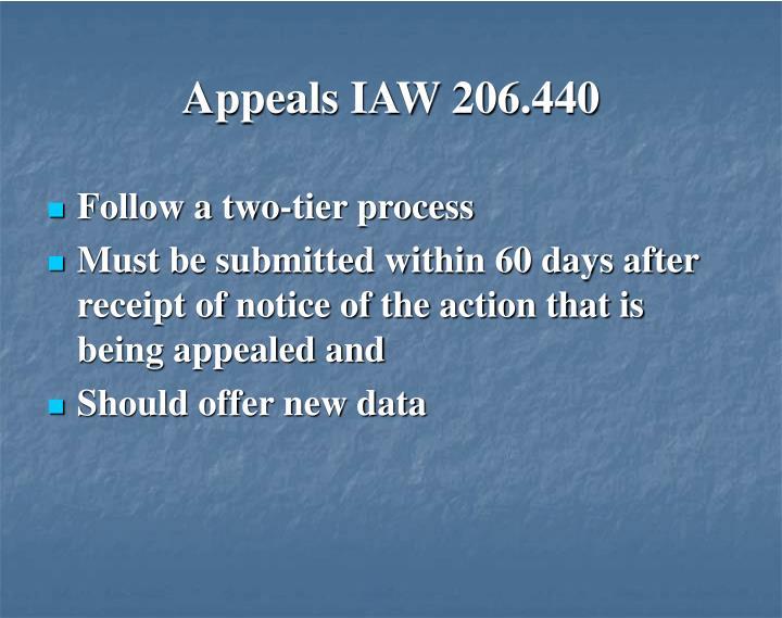 Appeals IAW 206.440