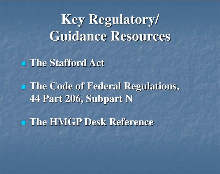 Key Regulatory/