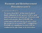 payments and reimbursement procedures con t3