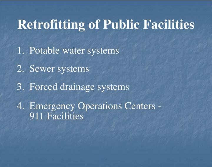 Retrofitting of Public Facilities