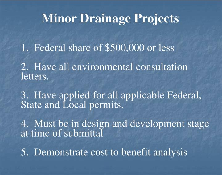 Minor Drainage Projects