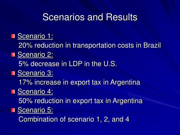 Scenarios and Results