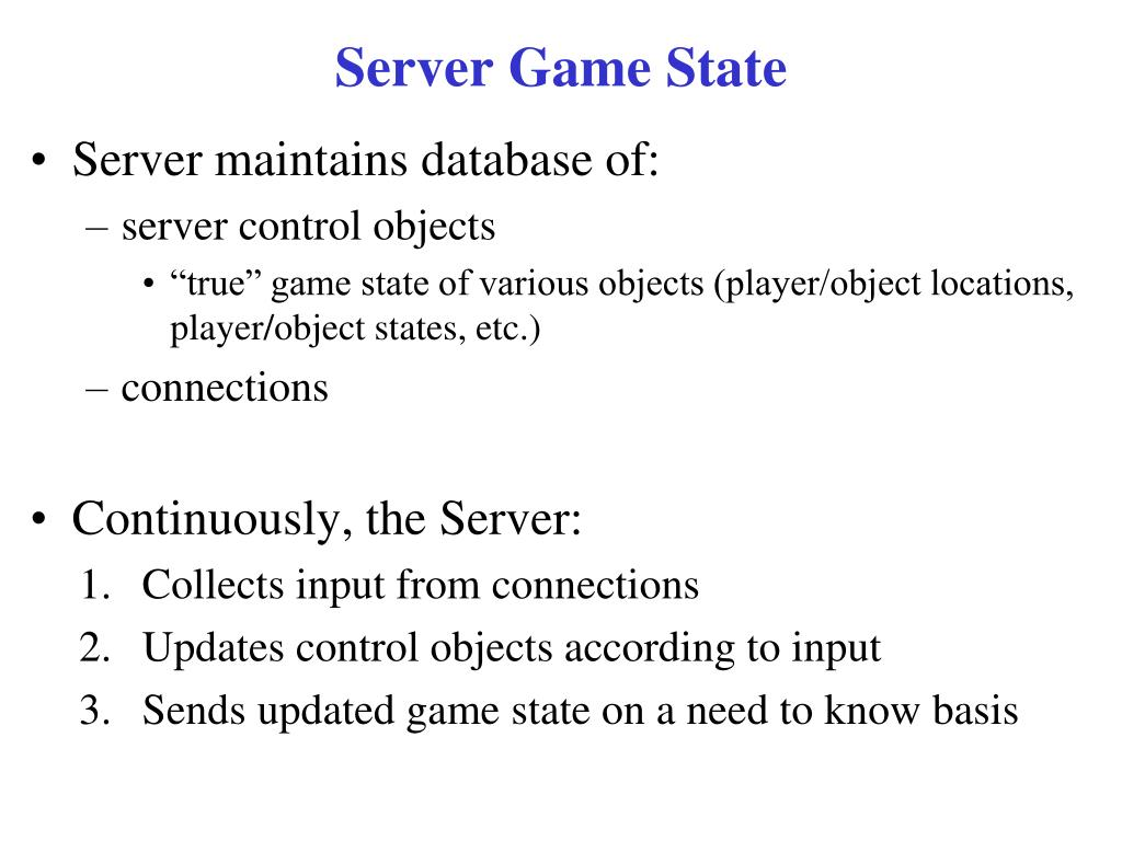 Server Game State