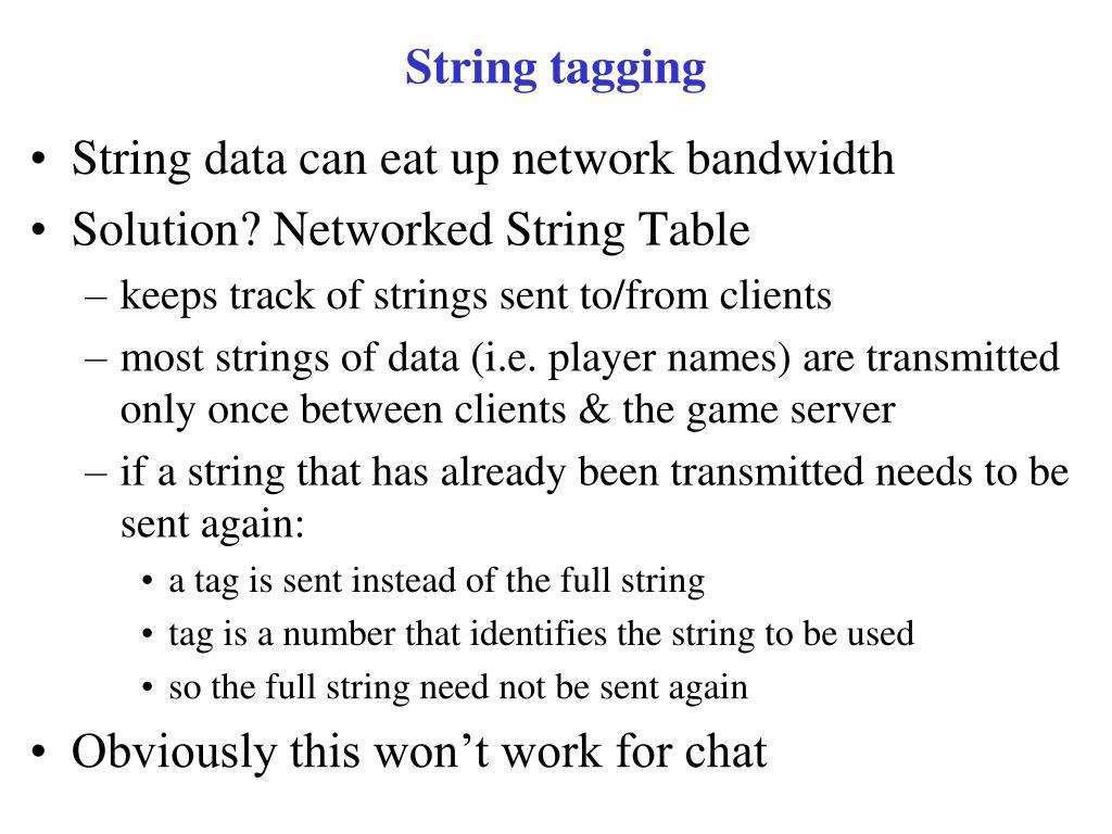 String tagging