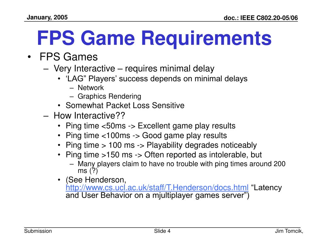 FPS Game Requirements