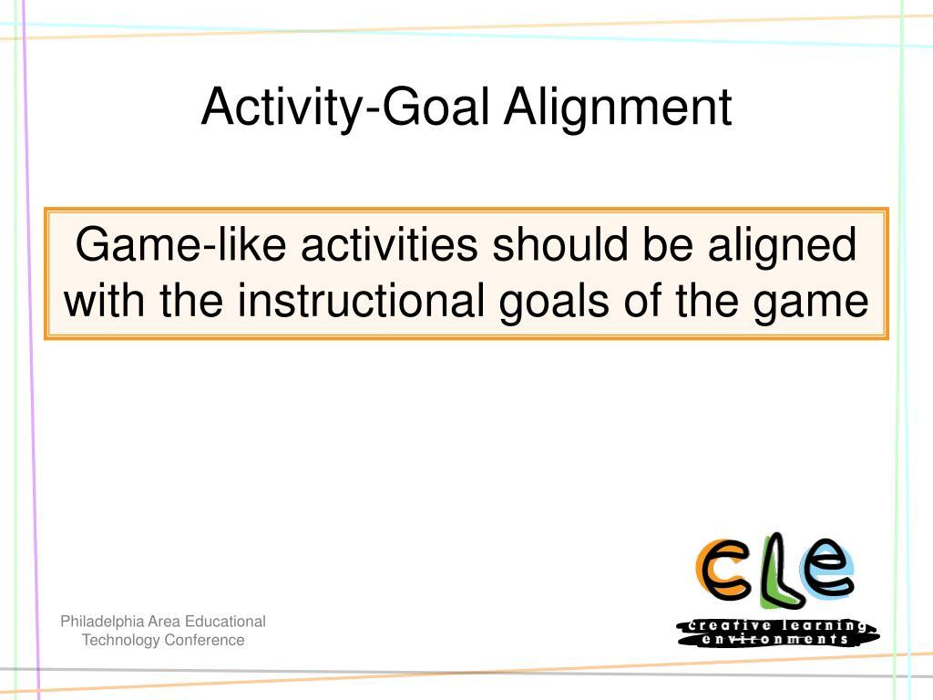 Activity-Goal Alignment