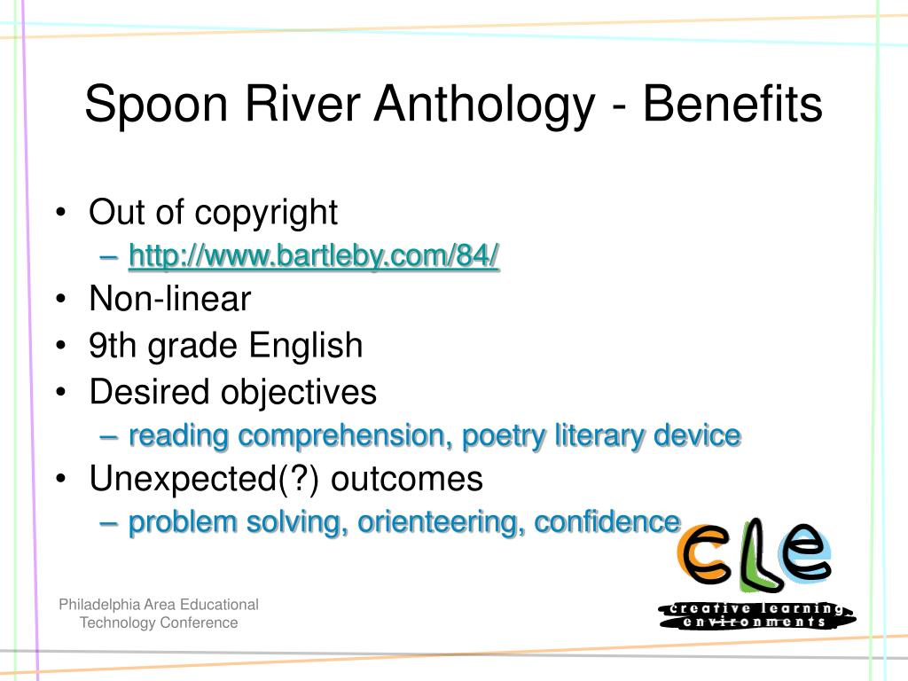 Spoon River Anthology - Benefits