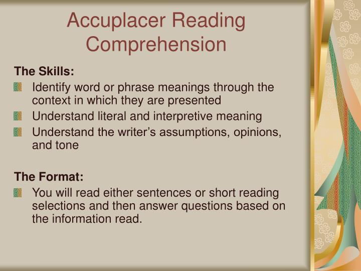 Accuplacer Reading Comprehension